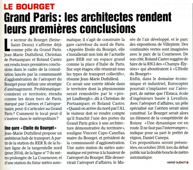 Article Bourget-Le Moniteur