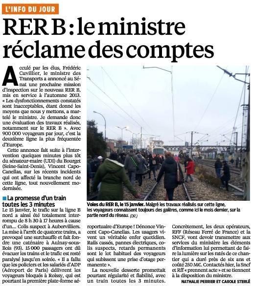 Article du Parisien - 8 février 2014