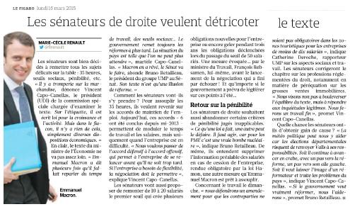 Artcile Le Figaro Économie - 16 mars 2015 copie